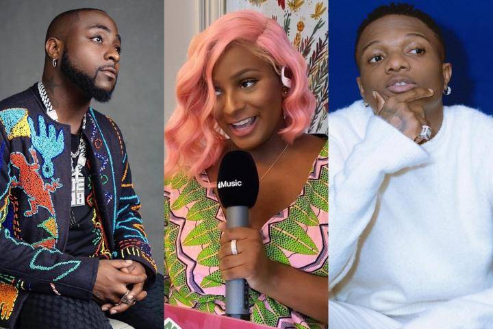 See The Tricky Way DJ Cuppy Chose Who Is Her Favorite Between Wizkid And Davido (Photo)